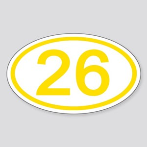 Number 26 Oval Oval Sticker