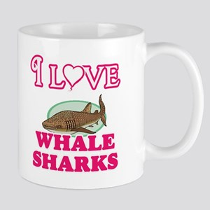 I Love Whale Sharks Mugs