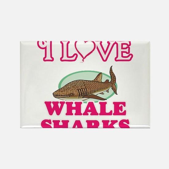 I Love Whale Sharks Magnets