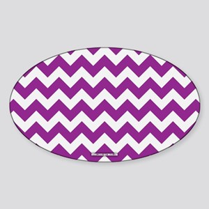 Chevron Purple Sticker