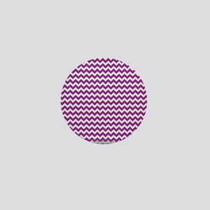 Chevron Purple Mini Button