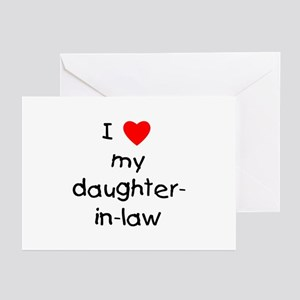 I love my daughter-in-law Greeting Cards (Package
