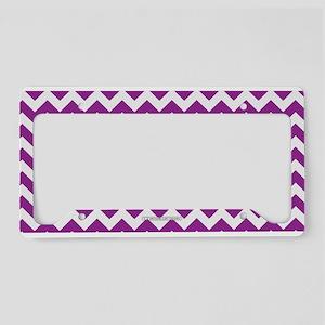 Chevron Purple License Plate Holder