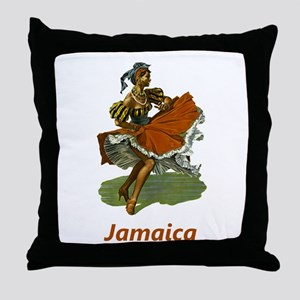 Vintage Jamaica Travel Throw Pillow
