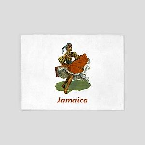 Vintage Jamaica Travel 5'x7'Area Rug