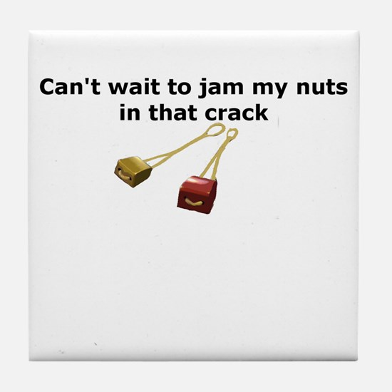 Rock Nuts Tile Coaster