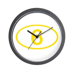 Number 6 Oval Wall Clock