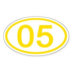 Number 05 Oval Oval Decal