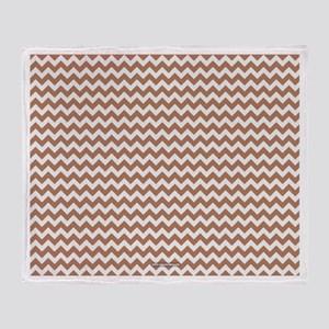 Chevron Tan Throw Blanket