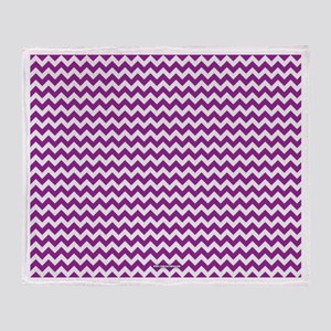 Chevron Purple Throw Blanket