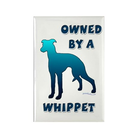 Whippet Silhouette Rectangle Magnet (10 pack)