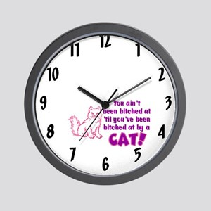 Bitched at by a Cat Wall Clock