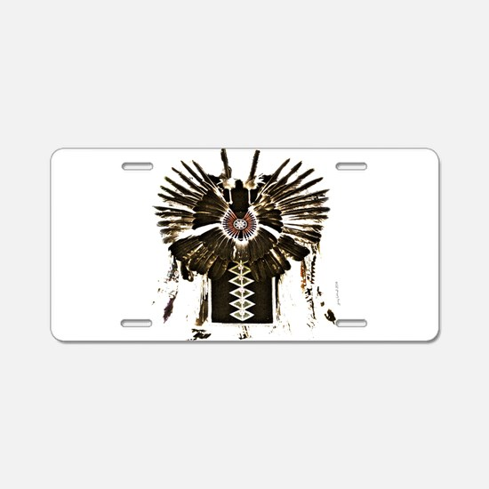 Native American Feathers Aluminum License Plate