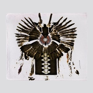 Native American Feathers Throw Blanket
