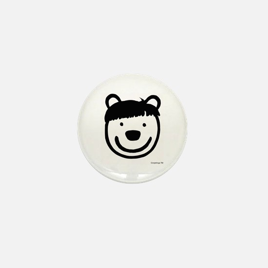 Moe Hair Bear Mini Button