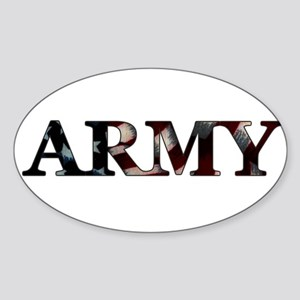 Army (Flag) Oval Sticker