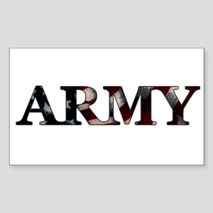 Army (Flag) Rectangle Sticker
