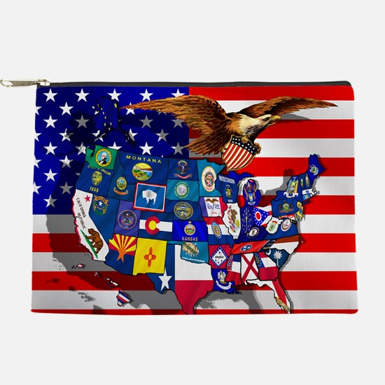 USA States Flag Makeup Pouch