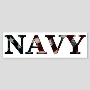 Navy (Flag) Bumper Sticker