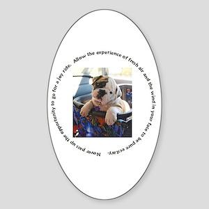 Bulldog Joy Ride II Oval Sticker