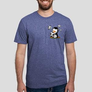 Soccer Penguin Mens Tri-blend T-Shirt