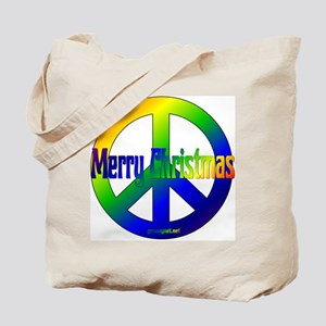 Merry Christmas Peace Sign Tote Bag