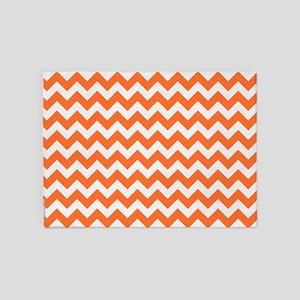Chevron Orange 5'x7'Area Rug