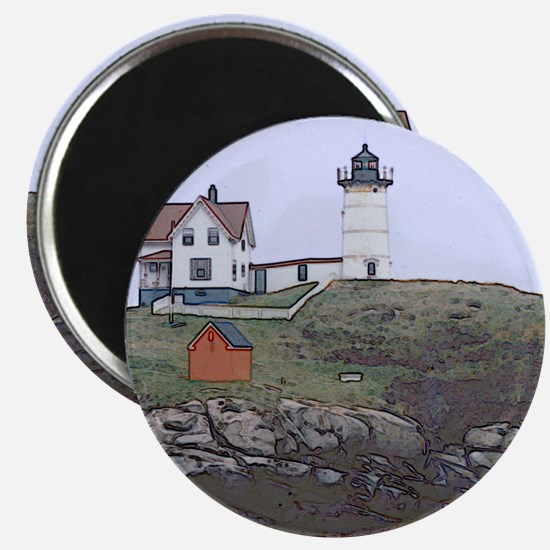 """Nubble Lighthouse 2.25"""" Magnet (10 pack)"""