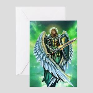 angel michael Greeting Cards