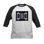 Star Of David Torah Scroll Kids Baseball Jersey