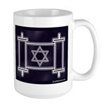 Star Of David Torah Scroll Large Mug