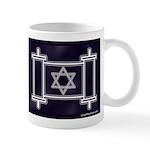 Star Of David Torah Scroll Mug