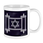 Star Of David Torah Scroll Mug