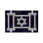 Star Of David Torah Scroll Rectangle Magnet (10 pa
