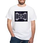 Star Of David Torah Scroll White T-Shirt