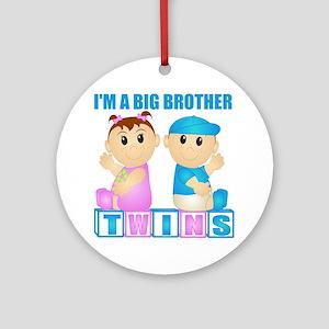 I'm A Big Brother (PBG:blk) Ornament (Round)