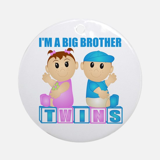I'm A Big Brother (PBG:blk) Ornament (Round)