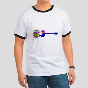 Guitar Paintdrips T-Shirt