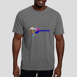 Guitar Paintdrips Mens Comfort Colors Shirt
