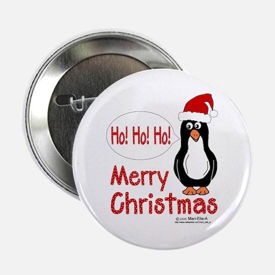Ho! Ho! Ho! Penguin Button