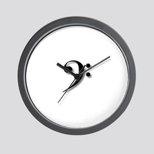 The Impressive Bass Clef Wall Clock