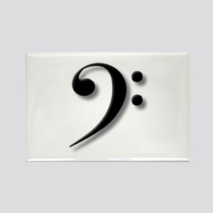The Impressive Bass Clef Rectangle Magnet