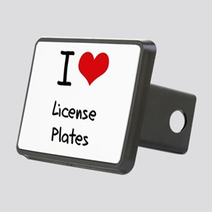 I Love License Plates Hitch Cover