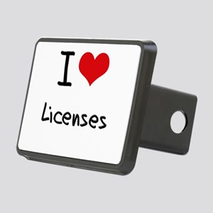 I Love Licenses Hitch Cover