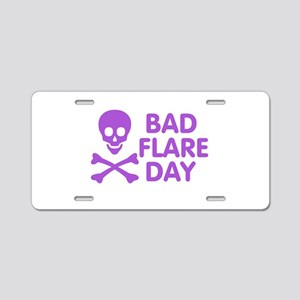 Bad Flare Day Skull and Crossbones Aluminum Licens