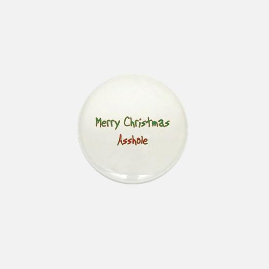Merry Christmas Asshole Mini Button (10 pack)