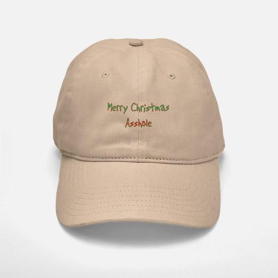 Merry Christmas Asshole Baseball Baseball Cap
