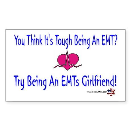 EMTs Girlfriend Rectangle Sticker