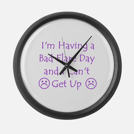 Having a Bad Flare Day Large Wall Clock