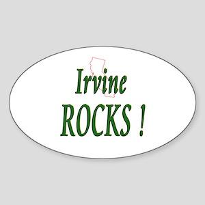 Irvine Rocks ! Oval Sticker